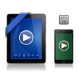 video on mobile devices vector image