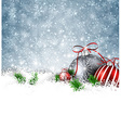 Silver winter background with christmas balls vector image