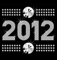 diamond numbers 2012 means happy new year vector image vector image