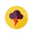 Cloud Lightning flat icon Meteorology Weather vector image