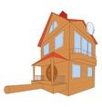 Bird house deluxe vector image