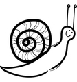 snail cartoon for coloring vector image vector image