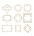 Collection of vintage classic frames Set frames vector image