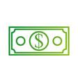 dollar banknote money cash economy financial vector image