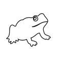 frog it is black icon vector image