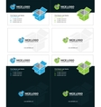 isometric box business cards 2 vector image