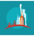 new york icon flat vector image