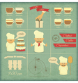 Retro Cover Menu for Bakery vector image
