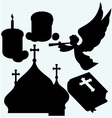 Set of religious symbols vector image