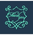Vintage Thank You and graceful floral monogram vector image
