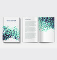 book design template vector image