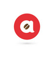 letter a coffee logo icon design template elements vector image