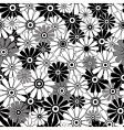 whiteblack repeating floral pattern vector image vector image
