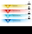 Infographic Templates options number with business vector image