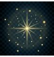 Shine star glitter sparkle icon vector image