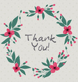 Floral frame greeting card Thank you concept vector image