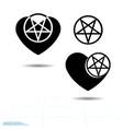 icon black heart a symbol love valentine s day vector image