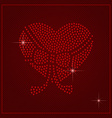 Rhinestone Valentines Day Template vector image