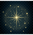 Shine star glitter sparkle icon vector image