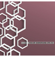 3d stylish geometric background vector image vector image