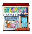 A ladies fashion store vector image