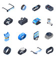 wearable technology isometric icons set vector image
