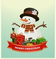 Merry Christmas and happy new year ribbon banner vector image