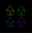 Glowing house with face forming a vase vector image vector image