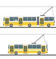 city trolleybus collection isolated on white vector image vector image