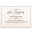 Certificate template design with emblem flourish vector image