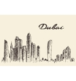 Dubai City skyline Hand drawn vector image
