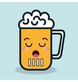 glass beer cartoon facial expression isolated icon vector image