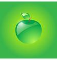 Glossy green apple vector image