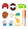 golf icons set golf accessories cup flag vector image