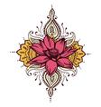 Lotus Paisley Henna Design vector image