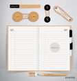 Paper catalog magazines book mock up vector image