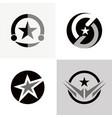star emblem logo vector image