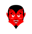 Red Devil Funny demon Satan with horns Crafty vector image