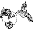 Hiqh qualiti hummingbird and orchid for coloring vector image