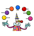 primary colors educational activity vector image
