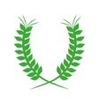 green crown formed with two olive branch vector image