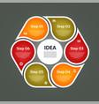 circular arrows for infographics vector image