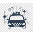 icon travel by taxi silhouette vector image
