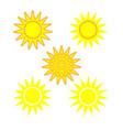 sun sign set 1304 vector image