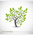 tree logo concept with leaves vector image