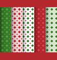 set of geometric seamless pattern vector image