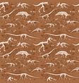 jurassic dinosaur bones skeleton ancient vector image