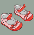 girl shoes vector image vector image