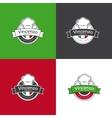 retro badge for pizza restaurant Italian vector image