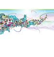 floral rainbow color design vector image vector image
